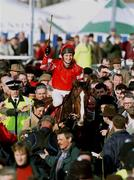 The Royal Sun Alliance Steeple Chase, Cheltenham,  18/3/98. Florida Pearl with jockey Richard Dunwoody celebrate their victory in the enclosure. Horse Racing. Photograph © Matt Browne SPORTSFILE.