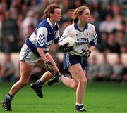 October 1996; Monaghan's Jenny Greenan gets away from Laois' Mary CaseyAll-Ireland Ladies Football Final Replay, Monaghan v Waterford, Croke Park. Picture credit; Ray McManus/SPORTSFILE.