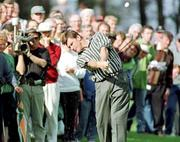4 July 1997; Nick Faldo of England plays out of the rough on the 18th during the second round of the Murphy's Irish Open Golf Championship at Druid's Glen Golf Club in Wicklow. Photo by David Maher/Sportsfile