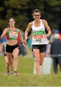 18 October 2015; Annette Kealy, Raheny Shamrock AC, Dublin,  in action during the Women's Open race. Autumn Open Cross Country. Phoenix Park, Dublin. Picture credit: Tomás Greally / SPORTSFILE