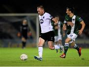 23 October 2015; Chris Shields, Dundalk, in action against Liam Miller, Cork City. SSE Airtricity League Premier Division, Cork City v Dundalk. Turners Cross, Cork. Picture credit: Eóin Noonan / SPORTSFILE
