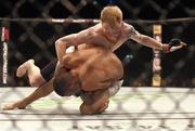 24 October 2015; Paddy Holohan, top, in action against Louis Smolka. UFC Fight Night, Patrick Holohan v Louis Smolka. 3Arena, Dublin. Picture credit: Stephen McCarthy / SPORTSFILE
