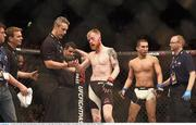 24 October 2015; Paddy Holohan following his defeat to Louis Smolka. UFC Fight Night, Patrick Holohan v Louis Smolka. 3Arena, Dublin. Picture credit: Stephen McCarthy / SPORTSFILE