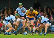25 October 2015; Niall Gilligan, Sixmilebridge, in action against Na Piarsaigh's, from left, Will O'Donoghue, Alan Dempsey, Ronan Lynch, Mike Foley and Mike Casey. AIB Munster GAA Senior Club Hurling Championship, Sixmilebridge v Na Piarsaigh. O'Garney Park, Sixmilebridge, Co. Clare. Picture credit: Piaras Ó Mídheach / SPORTSFILE