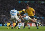 25 October 2015; Scott Fardy, Australia, in action against Argentina. 2015 Rugby World Cup, Semi-Final, Argentina v Australia. Twickenham Stadium, Twickenham, London, England. Picture credit: Ramsey Cardy / SPORTSFILE