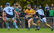 25 October 2015; Niall Gilligan, Sixmilebridge, in action against Cathal King and Mike Casey, 2, Na Piarsaigh. AIB Munster GAA Senior Club Hurling Championship, Sixmilebridge v Na Piarsaigh. O'Garney Park, Sixmilebridge, Co. Clare. Picture credit: Piaras Ó Mídheach / SPORTSFILE