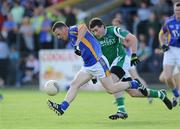 4 July 2009; Leighton Glynn, Wicklow, in action against Seamus Quigley, Fermanagh. GAA Football All-Ireland Senior Championship Qualifier, Round 1, Wicklow v Fermanagh, County Grounds, Aughrim, Co. Wicklow. Picture credit: Matt Browne / SPORTSFILE