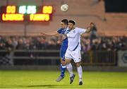 2 November 2015; Josh Mailey, Finn Harps, in action against Shane Tracy, Limerick FC. SSE Airtricity League Promotion / Relegation Play-off, First Leg, Limerick FC v Finn Harps. Markets Field, Limerick.Picture credit: Diarmuid Greene / SPORTSFILE