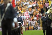 19 July 2009; Tyrone captain Brian Dooher during the pre-match parade. GAA Football Ulster Senior Championship Final, Tyrone v Antrim, St Tighearnach's Park, Clones, Co. Monaghan. Picture credit: Brian Lawless / SPORTSFILE