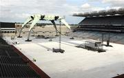 22 July 2009; A general view of Croke Park as preparations continue ahead of the upcoming U2 360 Tour Concerts. Croke Park, Dublin. Picture credit: David Maher / SPORTSFILE