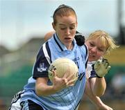 19 July 2009; Elaine Kelly, Dublin, in action against Donna Berry, Kildare. TG4 Ladies Football Leinster Senior Championship Final, Dublin v Kildare, Dr. Cullen Park, Carlow. Picture credit: Pat Murphy / SPORTSFILE