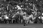 16 August 1997; Offaly's Vinny Claffey shoots his sides first goal against Meath. Offaly v Meath, Leinster Football Final. Croke Park, Dublin. Picture credit: Brendan Moran / SPORTSFILE
