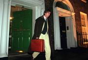 27 November 2000; John Delaney, Waterford United and FAI National Council member leaves the FAI Headquarters on Merrion Square after the Bord of Management meeting. Soccer. Picture credit; David Maher/SPORTSFILE