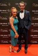 6 November 2015; Ronan McNamee, Tyrone, and Clara McMenamin arrive at the GAA GPA All-Star Awards 2015 Sponsored by Opel. Convention Centre, Dublin. Picture credit: Brendan Moran / SPORTSFILE