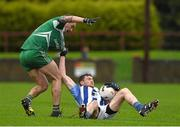 8 November 2015; Darren O'Reilly, Ballyboden St. Enda's, in action against Paddy Keenan, St Patrick's. AIB Leinster GAA Senior Club Football Championship Quarter-Final, St Patrick's v Ballyboden St. Enda's. County Grounds, Drogheda, Co. Louth. Picture credit: Ray McManus / SPORTSFILE
