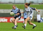 19 July 2009; Mary Nevin, Dublin, in action against Aisling Holton, Kildare. TG4 Ladies Football Leinster Senior Championship Final, Dublin v Kildare, Dr. Cullen Park, Carlow. Picture credit: Pat Murphy / SPORTSFILE