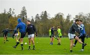 14 November 2015; Ireland players warm-up for squad training. Ireland Squad EirGrid International Rules Training. Carton House, Maynooth, Co. Kildare. Picture credit: Ramsey Cardy / SPORTSFILE