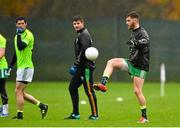 14 November 2015; Ireland's Eoin Cadogan, right, in action during squad training. Ireland Squad EirGrid International Rules Training. Carton House, Maynooth, Co. Kildare. Picture credit: Ramsey Cardy / SPORTSFILE