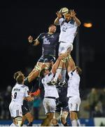 21 November 2015; Johan Snyman, Brive, wins possession in a lineout ahead of Ben Marshall, Connacht. European Rugby Challenge Cup, Pool 1, Round 2, Connacht v Brive. The Sportsground, Galway. Picture credit: Diarmuid Greene / SPORTSFILE