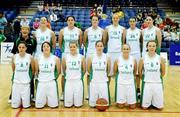 15 August 2009; The Ireland team. Senior Women's European Championship Qualifier, Ireland v Montenegro, National Basketball Arena, Tallaght, Dublin. Picture credit: Stephen McCarthy / SPORTSFILE