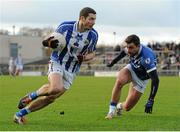 22 November 2015; Bob Dwan, Ballyboden St Enda's, in action against Paul Sharry, St Loman's. AIB Leinster GAA Senior Club Football Championship Semi-Final, St Loman's v Ballyboden St Enda's. Cusack Park, Mullingar, Co. Westmeath. Picture credit: Seb Daly / SPORTSFILE