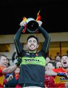 22 November 2015; Castlebar Mitchels captain Rory Byrne lifts the cup after the game. AIB Connacht GAA Senior Club Football Championship Final, Corofin v Castlebar Mitchels. Tuam Stadium, Tuam, Co. Galway. Picture credit: Piaras Ó Mídheach / SPORTSFILE