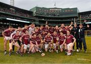 22 November 2015; The Galway players celebrate victory over Dublin. AIG Fenway Hurling Classic, Dublin v Galway. Fenway Park, Boston, MA, USA. Picture credit: Ray McManus / SPORTSFILE