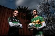 24 November 2015; Nemo Rangers' James Masters is pictured alongside Michael Quinlivan from Clonmel Commercials ahead of the AIB GAA Munster Senior Football Club Championship Final on the 29th of November in Mallow at 2pm. For exclusive content throughout the AIB Club Championships follow @AIB_GAA and facebook.com/AIBGAA. Clanna Gael GAA Club, Ringsend, Dublin 4. Picture credit: Ramsey Cardy / SPORTSFILE