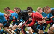 24 November 2015; A general view of players, including Simon Zebo and Rory O'Connor, warming up during Munster squad training. University of Limerick, Limerick. Picture credit: Diarmuid Greene / SPORTSFILE