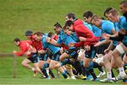 24 November 2015; A general view of players, including Cathal Sheridan, Francis Saili and Rory Scannell warming up during Munster squad training. University of Limerick, Limerick. Picture credit: Diarmuid Greene / SPORTSFILE