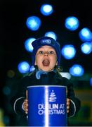 24 November 2015; Six year old Carla Bourke from Hedley Park Montessori School, Merrion Square, who assisted in the turning on of the Merrion Square Christmas Lights, by ESB. Merrion Square, Dubin 2. Picture credit: Paul Mohan / SPORTSFILE