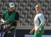 20 August 2009; Ireland's Eileen O'Keeffe checks the scoreboard after her second throw failed to leave the cage during qualifying for the Women's Hammer Final where she threw a mark of 63.20m but failed to make the final. 12th IAAF World Championships in Athletics, Olympic Stadium, Berlin, Germany. Picture credit: Brendan Moran / SPORTSFILE