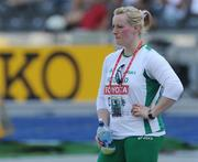 20 August 2009; Ireland's Eileen O'Keeffe after she was eliminated during qualifying for the Women's Hammer Final where she threw a mark of 63.20m with her only successful attempt but failed to make the final. 12th IAAF World Championships in Athletics, Olympic Stadium, Berlin, Germany. Picture credit: Brendan Moran / SPORTSFILE