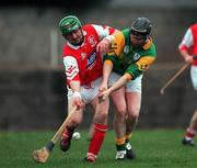 30 January 2000; James Mitchell, Meath, Tony Corcoran, Louth. Louth v Meath, Keogh Cup, St. Brigids Park, Dundalk. Hurling. Picture credit; Ray McManus/SPORTSFILE