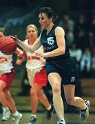 27 January 2001; Karen Hennessy of Meteors during the ESB Women's Cup Semi-Final match between Tolka Rovers and Meteors at the National Basketball Arena in Tallaght, Dublin. Photo by Brendan Moran/Sportsfile