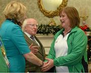25 November 2015; Team Ireland's Chris Mackey, bowling coach, in Aras an Uachtarain as the Special Olympics World Summer Games are honoured by President Michael D. Higgins and wife Sabina. Aras an Uachtarain, Phoenix Park, Dublin. Picture credit: Cody Glenn / SPORTSFILE