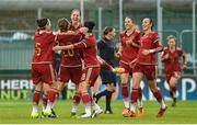 26 November 2015; Vicky Losada, Spain, celebrates with her team-mates after scoring her side's first goal against the Republic of Ireland. UEFA Women's EURO 2017 Qualifier, Group 2, Republic of Ireland v Spain, Tallaght Stadium, Tallaght, Co. Dublin. Picture credit: Matt Browne / SPORTSFILE