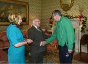 25 November 2015; Team Ireland's Chris Mackey, bowling coach, in Aras an Uachtarain as the Special Olympics World Summer Games are honoured by President Michael D. Higgins and wife Sabina. Aras an Uachtarain, Phoenix Park, Dublin. Picture credit: Ray McManus / SPORTSFILE