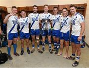 28 November 2015; St Mary's players, who won a Kerry County Championship with South Kerry last week, from left, Denis Daly, Conor O'Shea, Bryan Sheehan, Aidan Walsh, Daniel Daly, Conor Quirke and Paul O'Donoghue following their victory. AIB Munster GAA Football Intermediate Club Championship Final, St Mary's, Kerry, v Carrigaline, Cork. Fitzgerald Stadium, Killarney, Co. Kerry. Picture credit: Stephen McCarthy / SPORTSFILE
