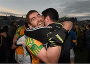 22 November 2015; Killian Young, left, and Bryan Sheehan following their victory. Kerry County Senior Football Championship Final Replay, South Kerry v Killarney Legion. Fitzgerald Stadium, Killarney, Co. Kerry. Picture credit: Stephen McCarthy / SPORTSFILE