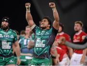 28 November 2015; Bundee Aki, Connacht, celebrates his side's victory at the final whistle. Guinness PRO12, Round 8, Munster v Connacht. Thomond Park, Limerick. Picture credit: Seb Daly / SPORTSFILE