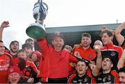 29 November 2015; Oulart the Ballagh manager Frank Flannery celebrates with players at the end of the game. AIB Leinster GAA Senior Club Hurling Championship Final, Oulart the Ballagh v Cuala. Netwatch Dr. Cullen Park, Carlow. Picture credit: David Maher / SPORTSFILE