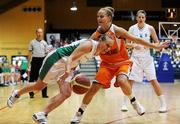 29 August 2009; Michelle Aspell, Ireland, in action against Tanya Broring, Netherlands. Senior Women's Basketball European Championship Qualifier, Ireland v Netherlands, National Basketball Arena, Tallaght, Dublin. Picture credit: Paul Mohan / SPORTSFILE