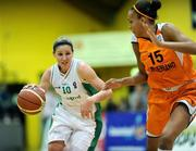 29 August 2009; Susan Moran, Ireland, in action against Naomi Halman, Netherlands. Senior Women's Basketball European Championship Qualifier, Ireland v Netherlands, National Basketball Arena, Tallaght, Dublin. Picture credit: Paul Mohan / SPORTSFILE