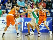 29 August 2009; Tanya Broring, Netherlands, in action against Jessica Scannell, Ireland. Senior Women's Basketball European Championship Qualifier 2009, Ireland v Netherlands, National Basketball Arena, Tallaght, Dublin. Picture credit: Paul Mohan / SPORTSFILE