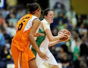 29 August 2009; Michelle Fahy, Ireland, in action against Naomi Halman, Netherlands. Senior Women's Basketball European Championship Qualifier, Ireland v Netherlands, National Basketball Arena, Tallaght, Dublin. Picture credit: Paul Mohan / SPORTSFILE