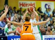 29 August 2009; Michellle Aspell, Ireland, in action against Tanya Broring, Netherlands. Senior Women's Basketball European Championship Qualifier, Ireland v Netherlands, National Basketball Arena, Tallaght, Dublin. Picture credit: Paul Mohan / SPORTSFILE