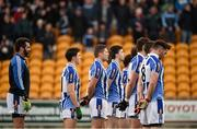 6 December 2015; Ballyboden St Enda's goalkeeper Paul Durcan, left, stands with team-mates during the playing of the National Anthem. AIB Leinster GAA Senior Club Football Championship Final, Portlaoise v Ballyboden St Enda's. O'Connor Park, Tullamore, Co. Offaly. Picture credit: Stephen McCarthy / SPORTSFILE