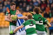 6 December 2015; Conal Keaney, Ballyboden St Enda's, in action against Portlaoise players, from left, Dean Cullen, Cahir Healy, John Delaney and David Seale. AIB Leinster GAA Senior Club Football Championship Final, Portlaoise v Ballyboden St Enda's. O'Connor Park, Tullamore, Co. Offaly. Picture credit: Stephen McCarthy / SPORTSFILE