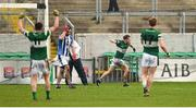 6 December 2015; Paul Cahillane, Portlaoise, celebrates after scoring his side's first goal. AIB Leinster GAA Senior Club Football Championship Final, Portlaoise v Ballyboden St Enda's. O'Connor Park, Tullamore, Co. Offaly. Picture credit: Stephen McCarthy / SPORTSFILE